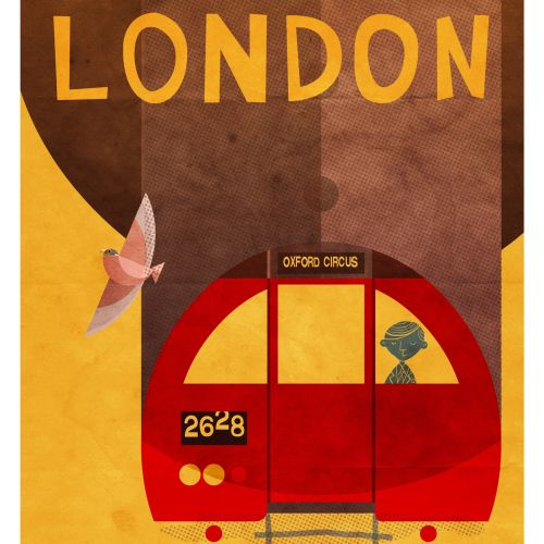 Souvenir of London Metro Poster for Daviz Industries