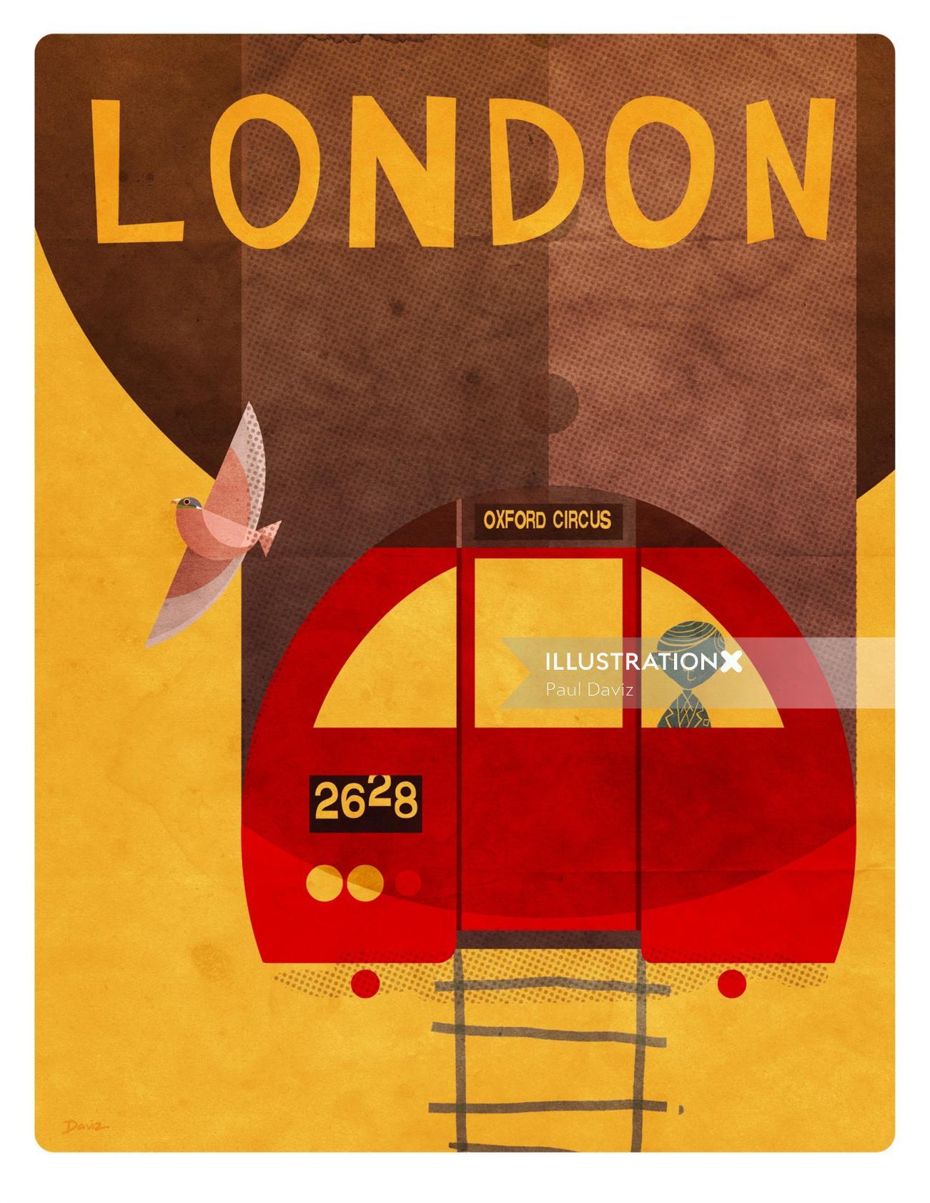 Souvenir of London Metro Poster for Daviz Industries