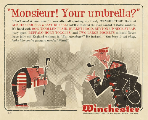 Winchester Retro 1950 Graphic Magazine广告