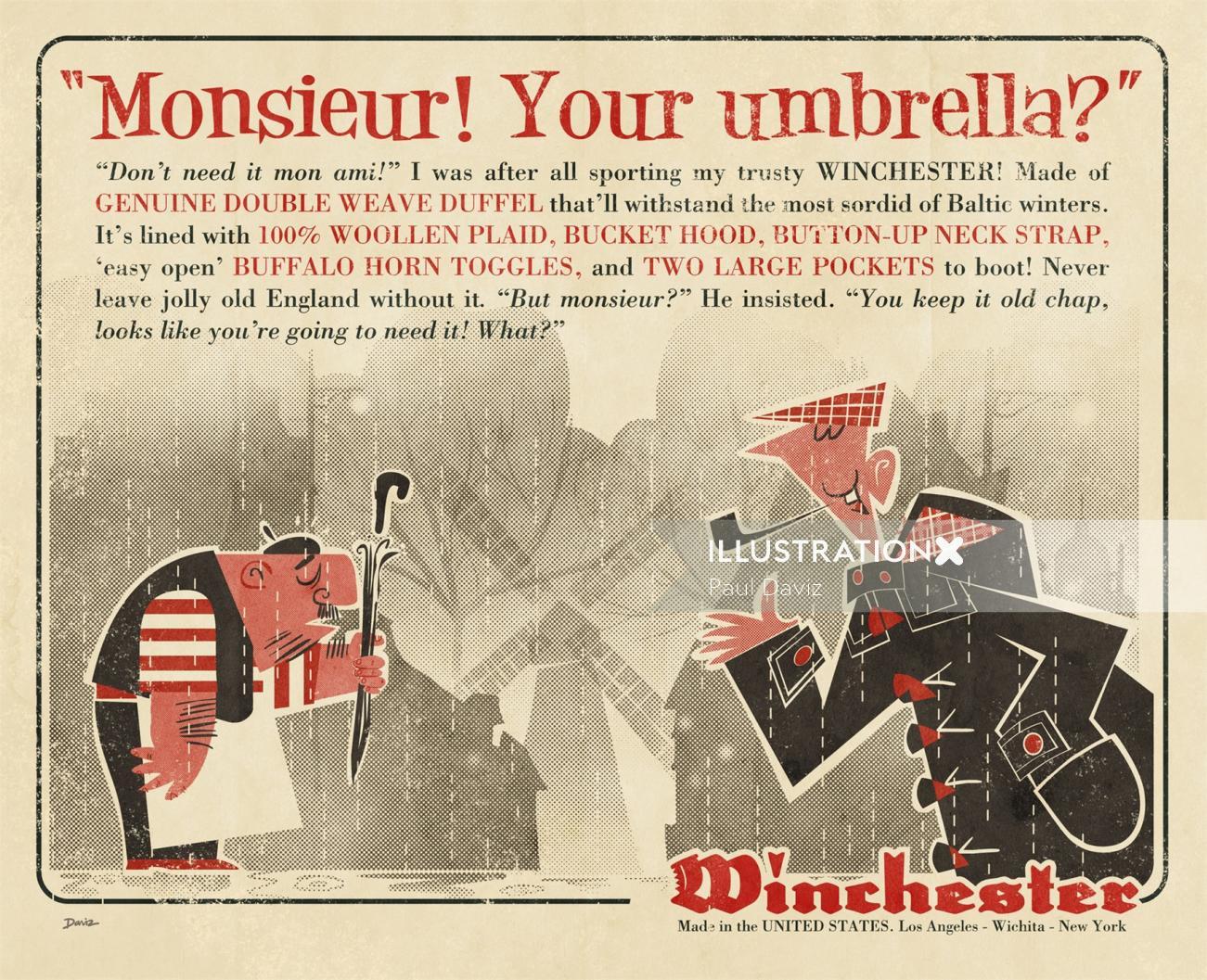 Winchester Retro 1950 Graphic Magazine advertisement
