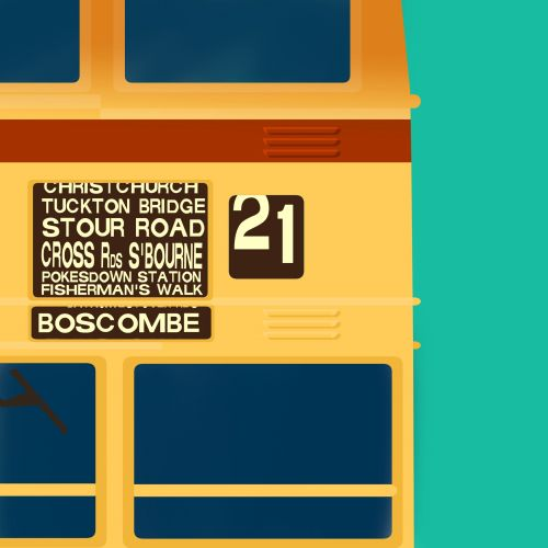 Computer generated Boscombe Bus