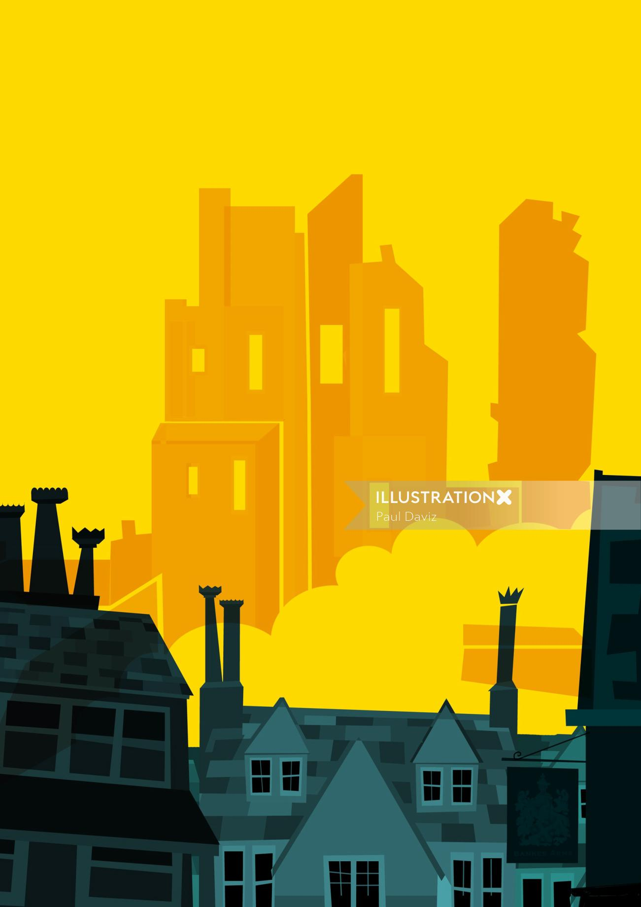 Vector illustration of city