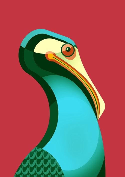 Pájaro colorido generado por computadora