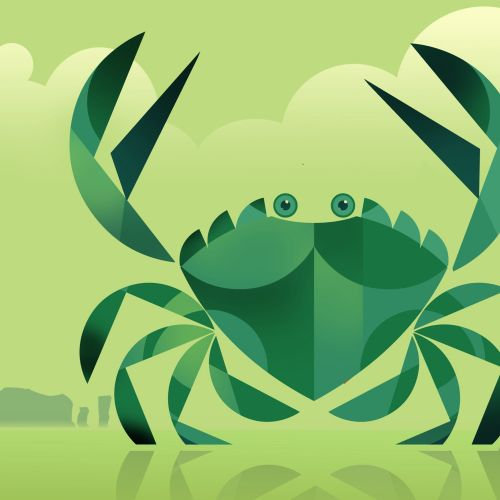 Computer generated green crab