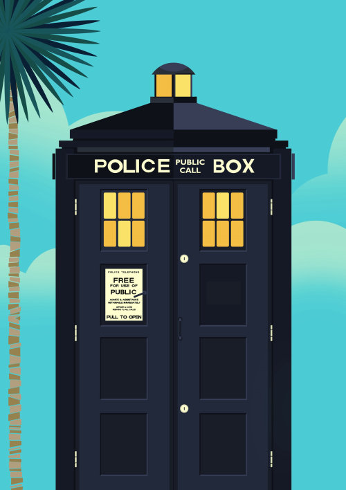 Police box vector illustration