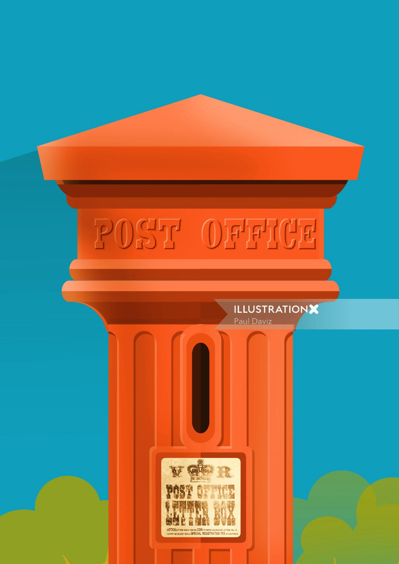 Computer generated Post Office Letter box