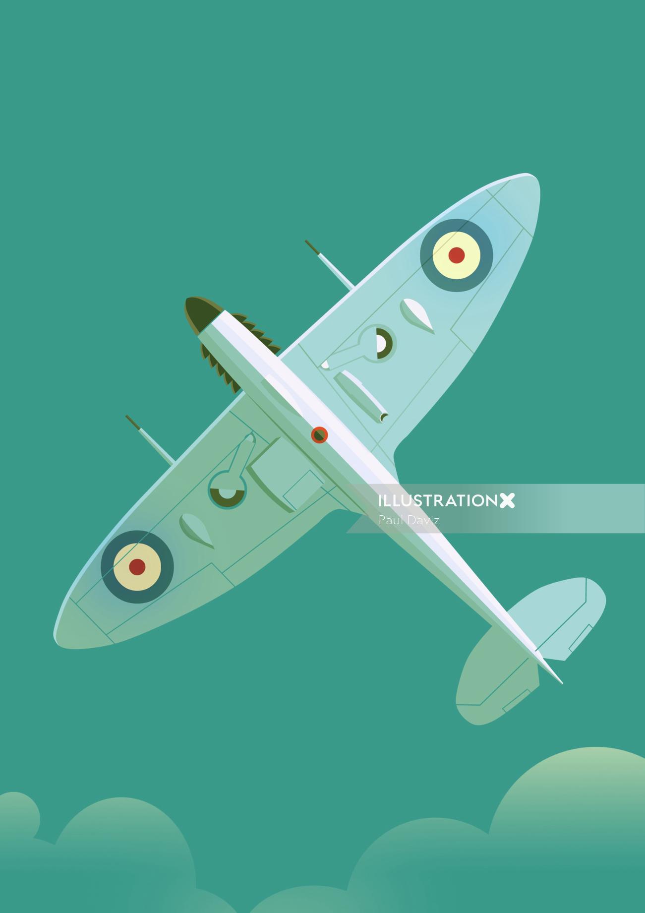 Poster art flying war plane