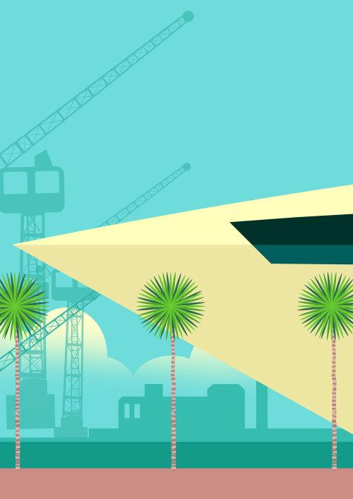 Computer Generated construction cranes