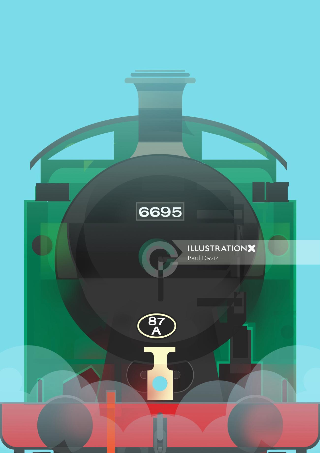 Computer Generated Train Engine