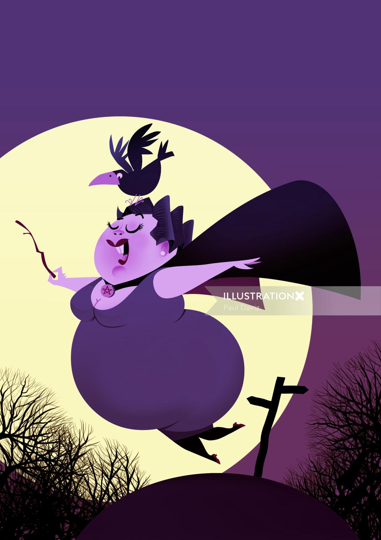 Computer Generated Pink fatty witch