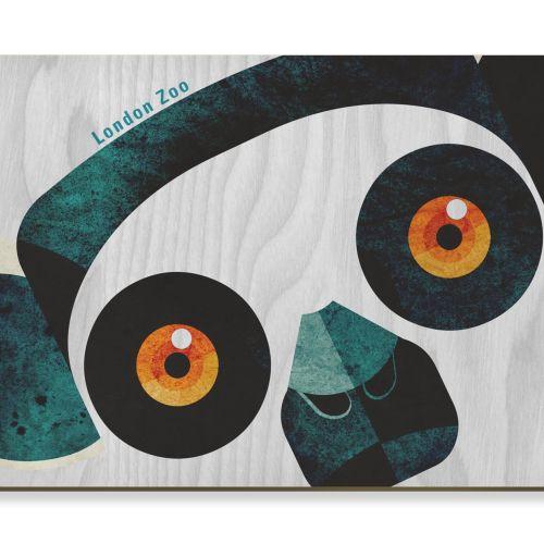 Wooden postcard art of Lemur