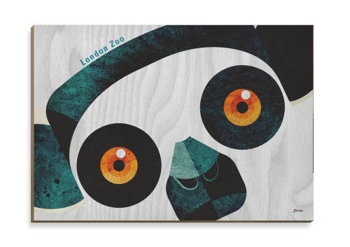 Wooden postcard art of Lemur