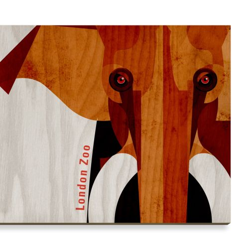 Elephant Wooden Postcard design for Stolarnia Kartek