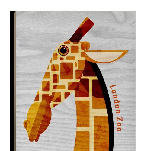 Giraffe Wooden Postcard design for Stolarnia Kartek
