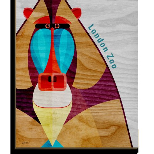 Mandrill - Wooden postcard design
