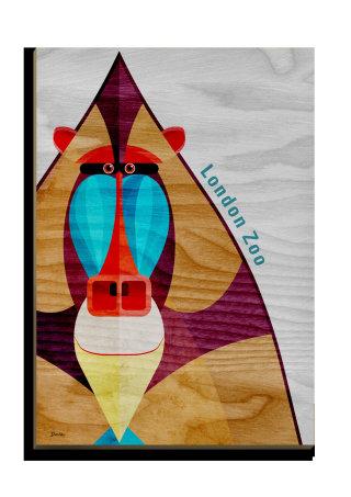 Mandrill - Wooden postcard design