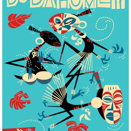 Benin Travel Poster AeroMundo