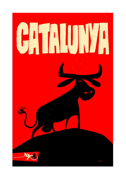 Catalonia Travel Poster AeroMundo