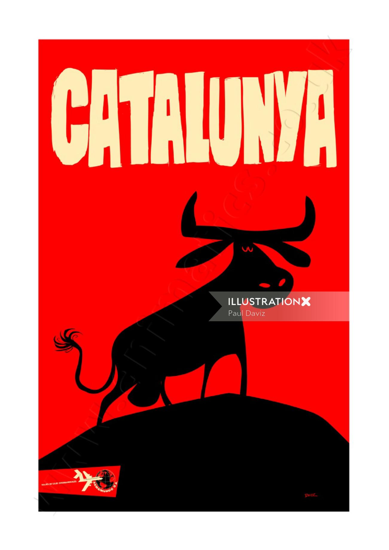 Catalonia Travel Poster AeroMundo
