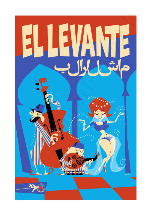 The Levant Travel Poster AeroMundo