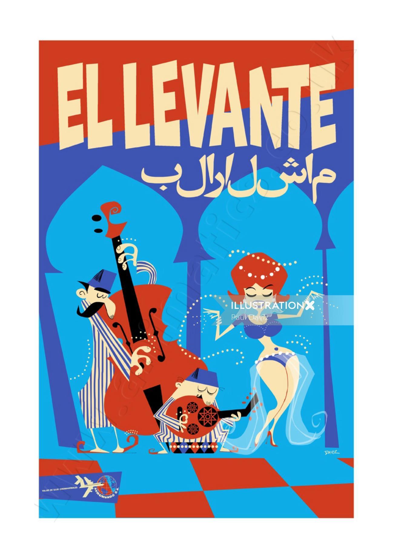 The Levant Travel Poster AeroMundo