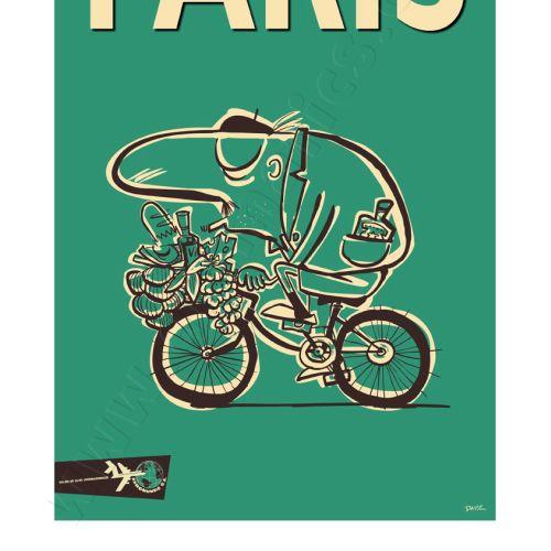 Paris Travel Poster AeroMundo