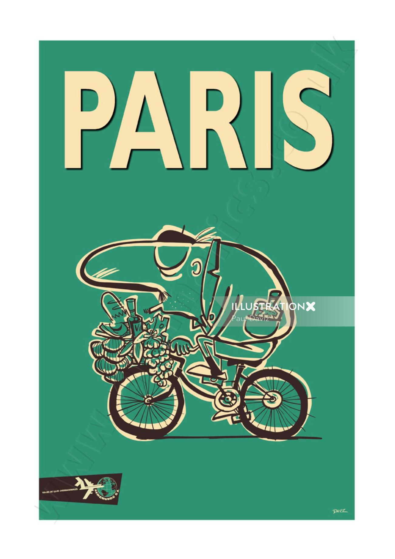 Paris Travel Poster AeroMundo