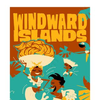Travel poster for Windward islands