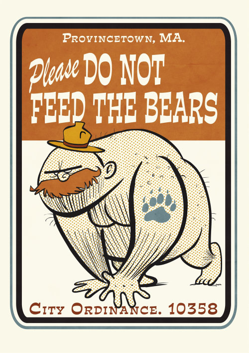 Lettering Please do not feed the bears