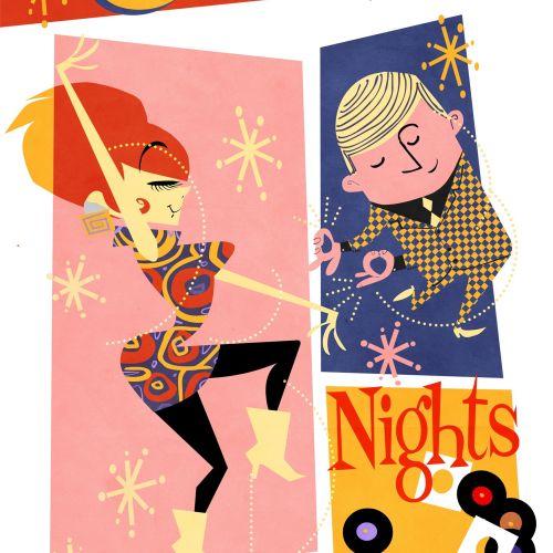 Casino Nights Graphic Greeting card
