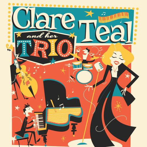Retro Clare Teal flyer