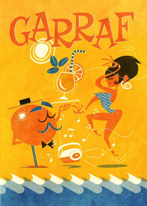 Gente Garraf Fiesta naranja y mujer