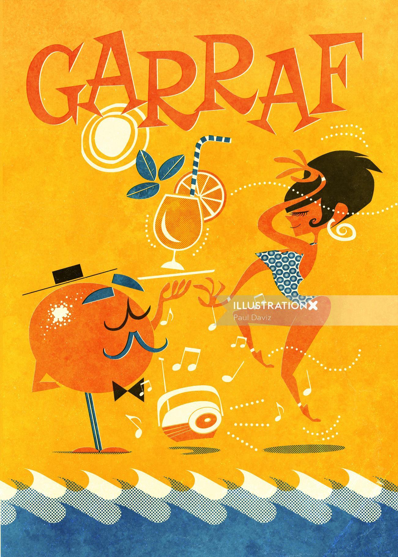 People Garraf Orange and woman party