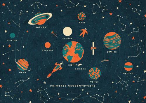 Zona del centro geográfico del universo gráfico