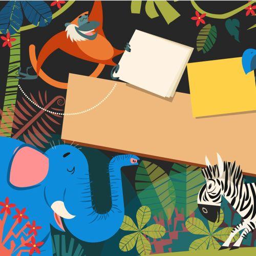 Children graphic animals