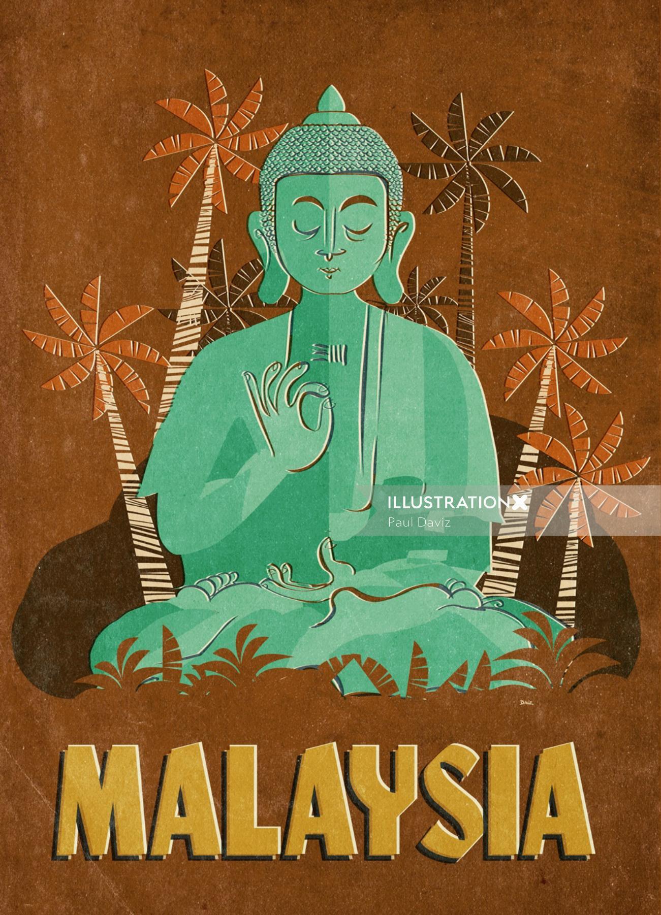 Malaysia city vector illustration