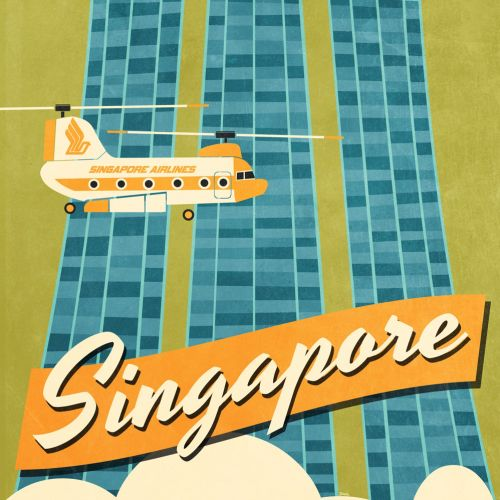 Vector illustration of Singapore city