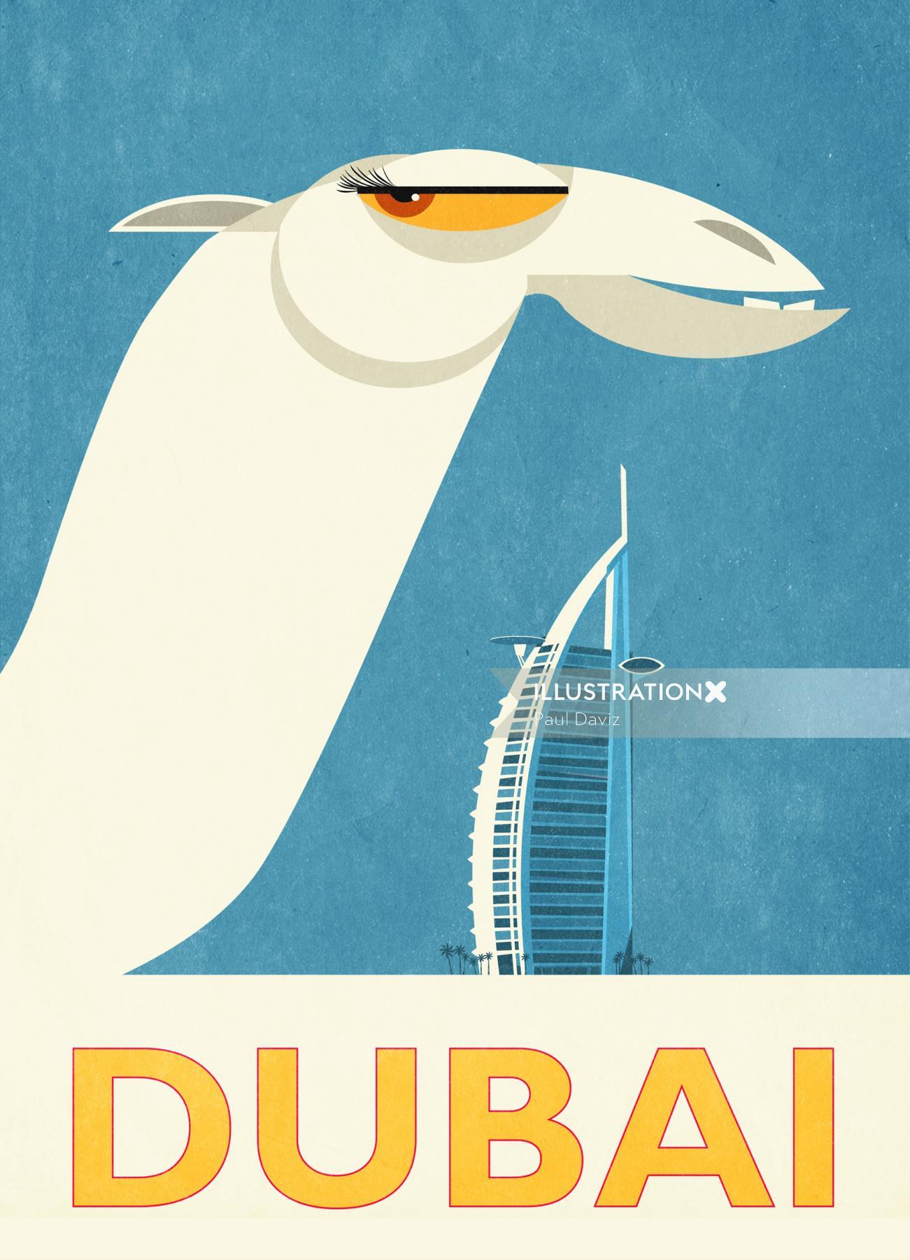 Graphic Camel in dubai