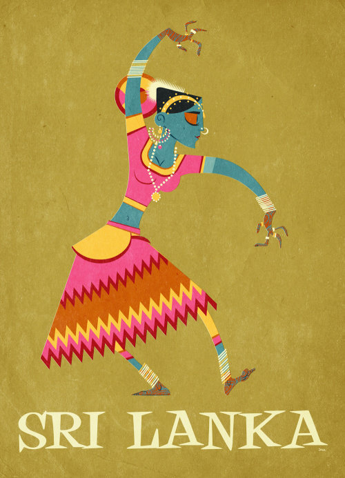 Vector illustration of Sri Lanka dancer