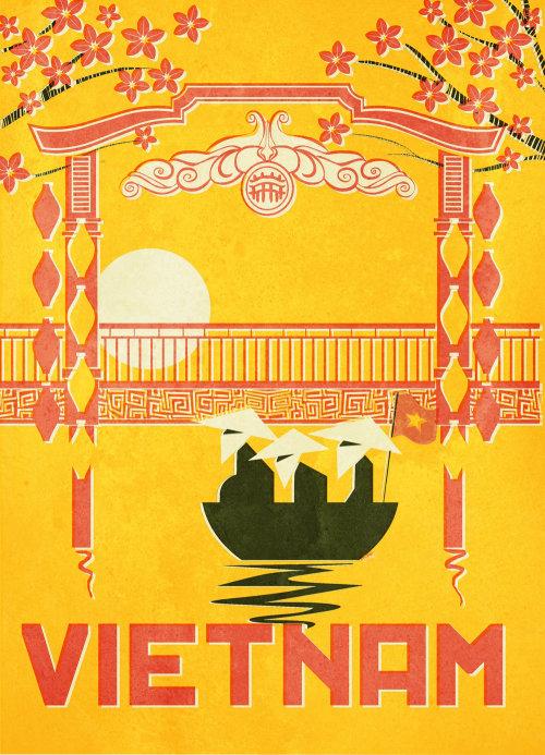 Graphic flyer Vietnam