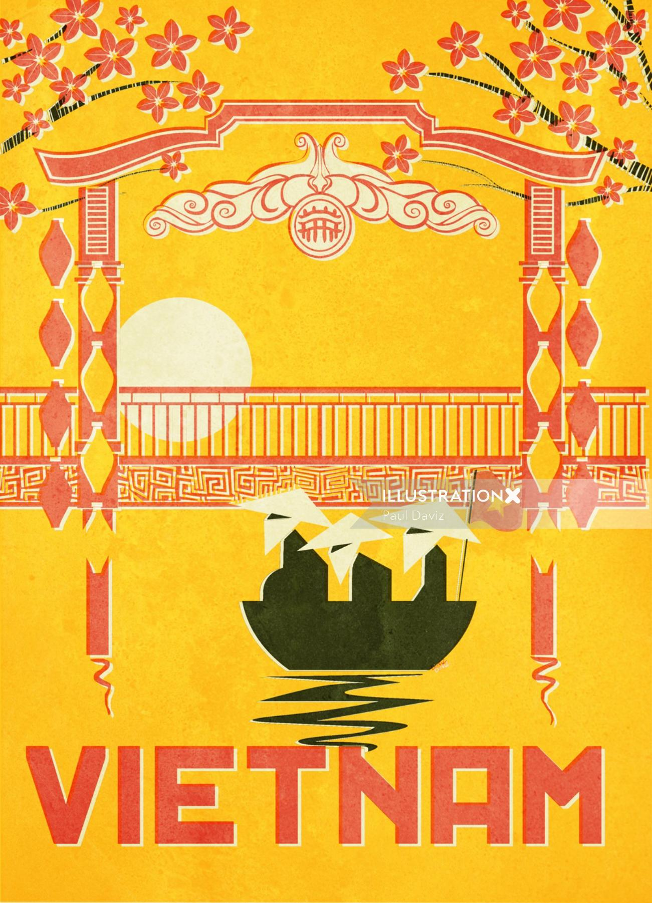 Graphic flyer Vietnam