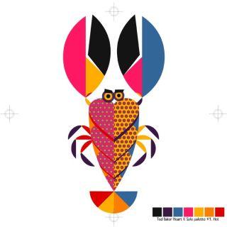Cartoon art of Lobster