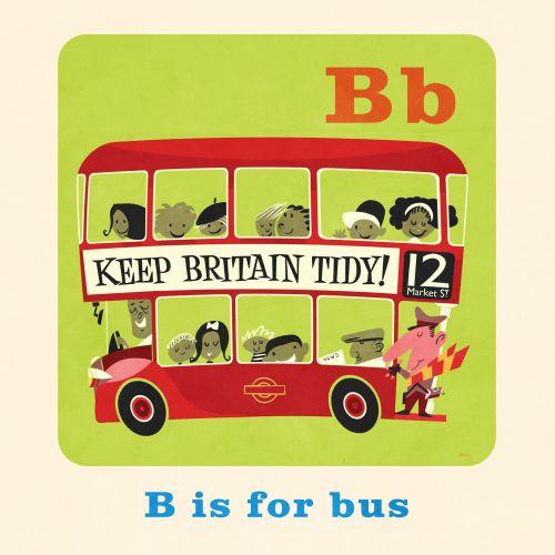 Bus illustration for children's book