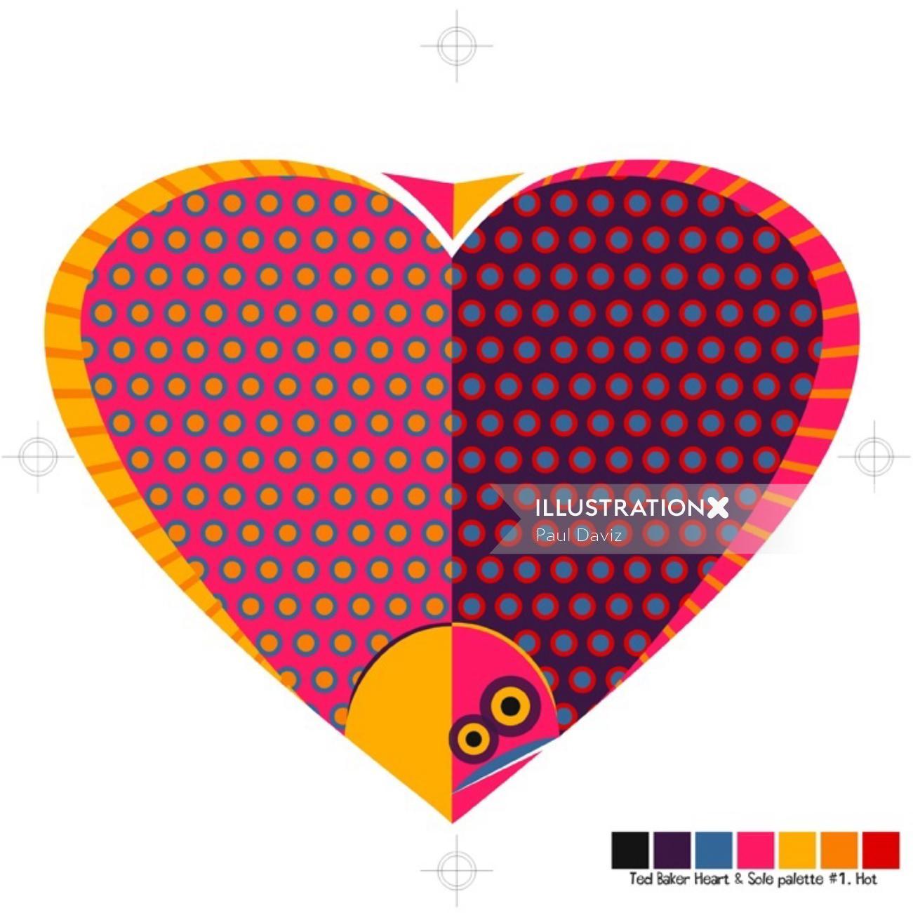 Heart and sole Conceptual Graphic design