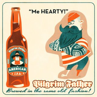 Retro art of hipster beer mats