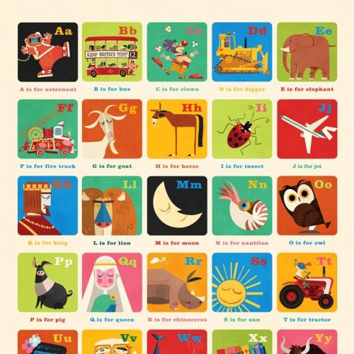 A-Z Education Graphic wall art for Oopsydaisy