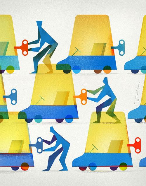 Digital communication Teamwork poster