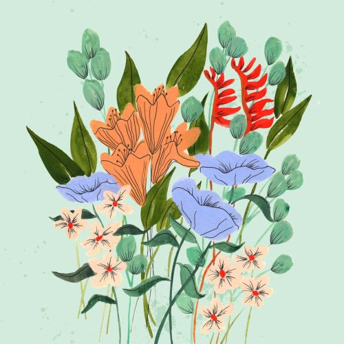 Peggy Dean Floral, lettering and whimsical illustrator. US