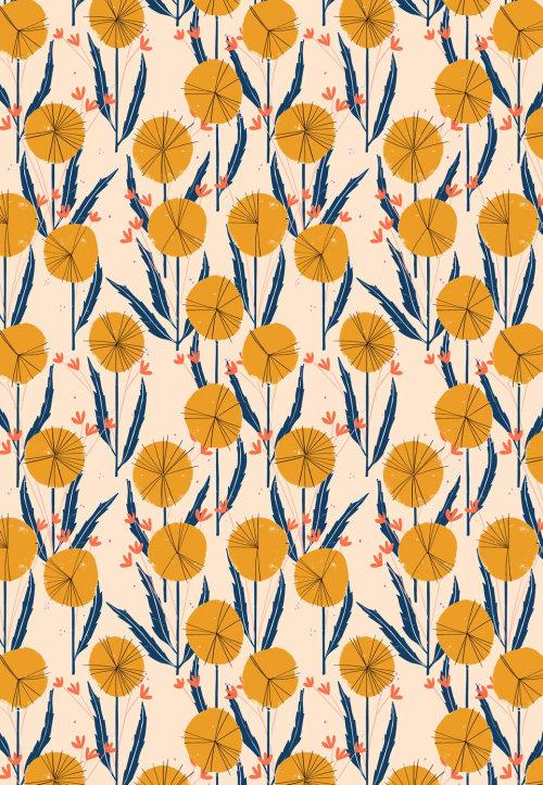 Flat colors flowers