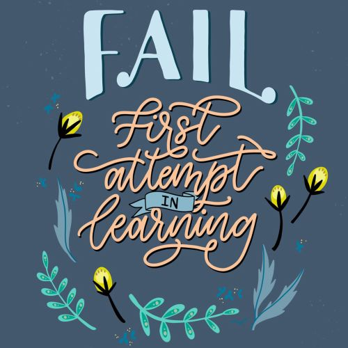 Fail first attempt is learning calligraphy
